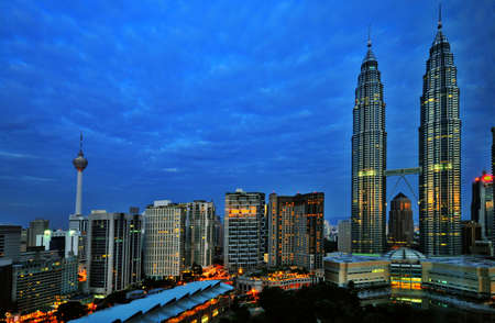megapolis: Early Morning Sunrise in Kuala Lumur Editorial