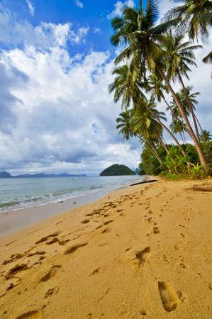 bounty: Huellas sobre Wild desierta Bounty Beach