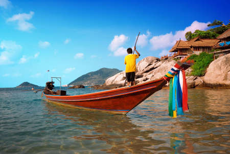 Traditional Thai Long tail boat Stock Photo - 5686788