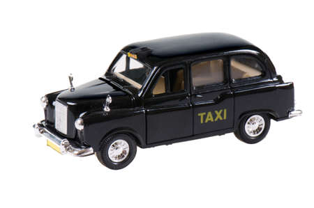 a model car fashioned after an old-fashioned taxi cab photo