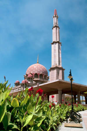 malaisia: The dome of Putrajaya Mosque, Malaisia Stock Photo