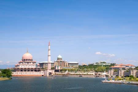 Putrajaya Mosque - a shot from the sea photo