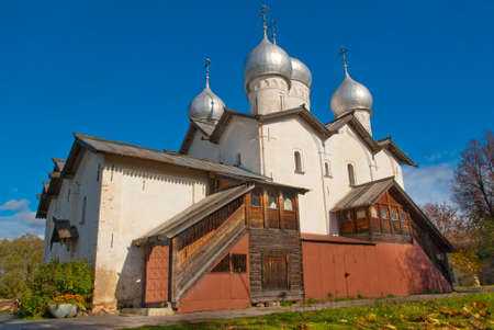 Beautiful  old orthodox in Novgorod the Great. photo