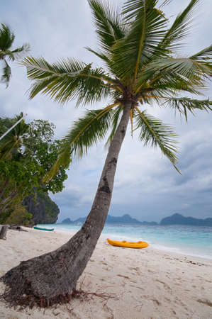 Peaceful Beach on a Tropical Island. photo