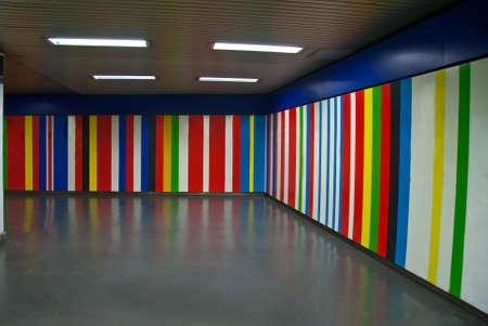 empty underground passage corner photo