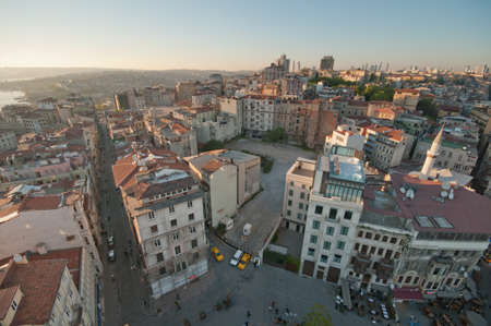 seabus: A view from the Galatatower to Istanbul