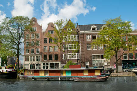 gabled house: A View to the Amsterdam Channel.