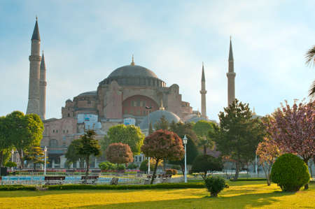 cami: Hagia Sofia - one of the most famost buildings in Istanbul.
