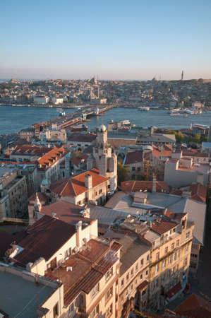 The old city of Istanbul viewed from the Galata tower. photo
