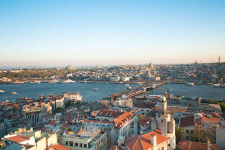 Istanbul - View to the old city from Galata Tower. photo