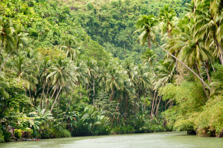 showers: Tropical river, jungle on both shores Stock Photo