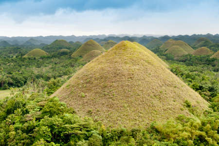 natural landmark: Chocolate Hills, a natural landmark of Philippines Stock Photo