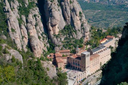 Montserrat monastery , Catalonia, Spain - view from above photo