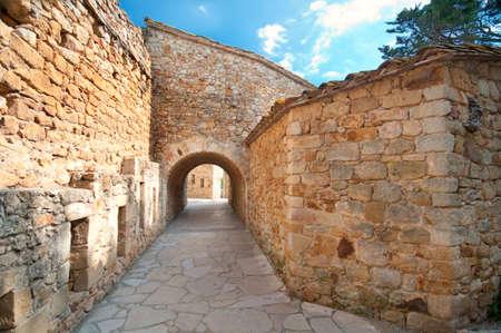 passageway: Old passageway in Peratallada, Spain
