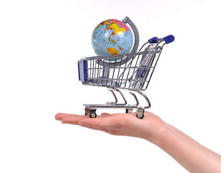 global trade: Shopping for Travels or Globalization Concept Stock Photo