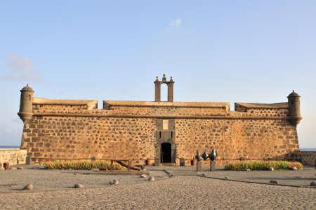 lanzarote: Old Castle in Arrecife of Lanzarote Stock Photo