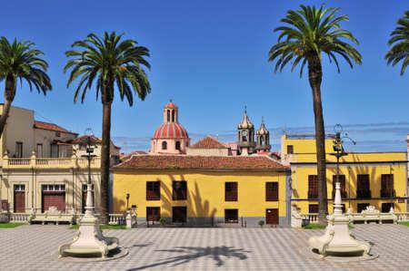 la: Colorful Quadrat mit Palmen in La Orotava