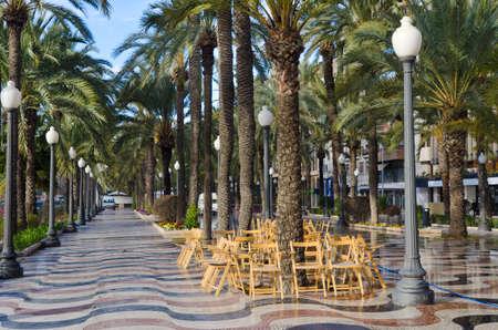 Mediterranean Boardwalk, Costa Blanca Alicante Spain photo