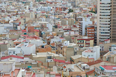 View over the roofs in Alicante, Spain. Stock Photo