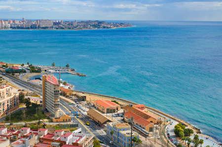 santa barbara: The beach line in Alicante, Spain.