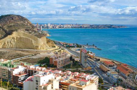 Alicante beach line, Spain.