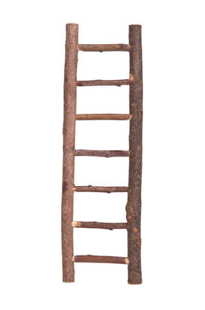 backstairs: Mini wooden ladder with hooks at the end