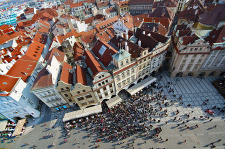 praha: The old Town Square view from above,  Prague Czech republic