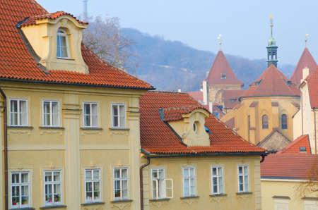 House roofs on Kampa Island near Charles Bridge, Prague, Czech Republic. photo