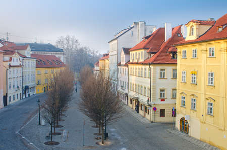 Na Kampe street on Kampa Island, Prague, Czech Republic photo