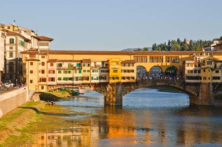 vechio: Ponte Vecchio Bridge over Arno river, Florence, Tuscany, Italy Stock Photo
