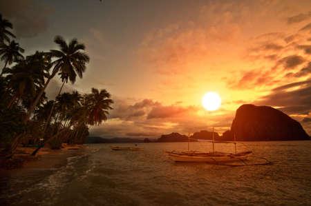 Vivid Sunset in Getaway Tropical Destination photo