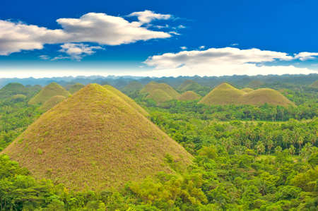 View of the Chocolate hills, Bohol, Philippines photo