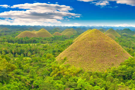 bohol: Chocolate hills panorama, Bohol island, Philippines Stock Photo