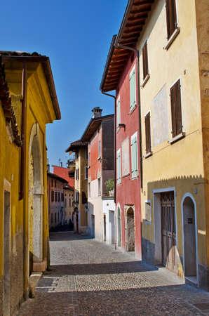 mediterranian style: Narrow cobbled Italian street, Tuscany