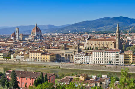 vechio: Panoramic view to Florence, Italy