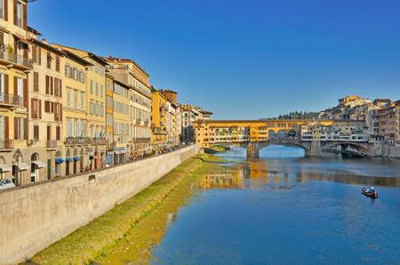 arno: Ponte Vecchio Bridge over river Arno Stock Photo