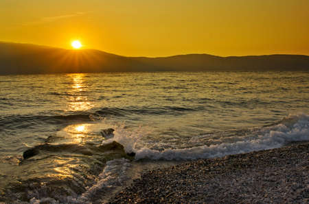 mediterranian: Beautiful sunset over the Mediterranian sea, Italy