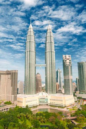 klcc: Petronas Twin Towers in Kuala Lumpur, Malaysia Editorial