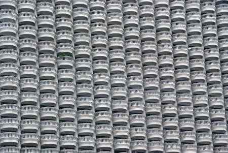 multi storey: Multi storey building with many balconies background