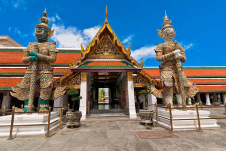 Thai demons standing in Grand palace, Bangkok,Thailand photo