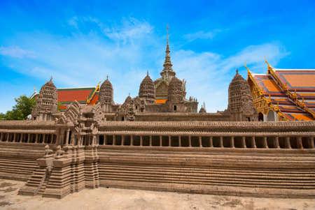 opulence: Traditional Thai architecture Grand Palace Bangkok Stock Photo