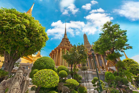 Grand Palace and temples, Bangkok, Thailand photo