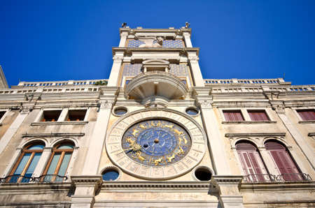 Clock Tower in St Mark's Square, Venice, Italy photo