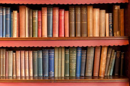 Two rows of bookshelf Stock Photo - 11543050