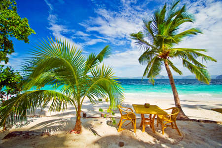 Dining in Paradise Beach Settings Stock Photo - 11550550