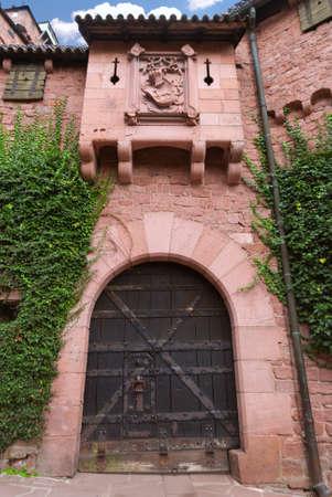 mediaval: Mediaval gate to an old castle, Alsace, France.
