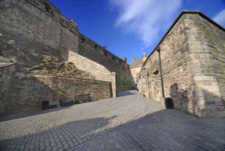 Inside the Edinburgh castle, UK.
