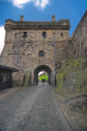 mile high city: Edinburgh Castle Portcullis gate, Great Britain.