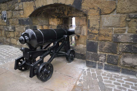 Big Renovated Cannon on Edinburgh Castle, UK.