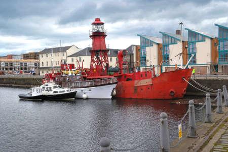 dundee: Dundee harbour, Fife, Scotland, United Kingdom